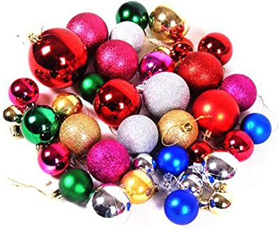 38pcs christmas decorations 4 8cm christmas light plating ball christmas tree ball ornaments color