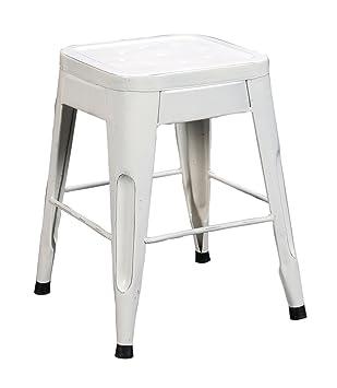 Home Elegance 5035WHT-18 Metal Stool White Set of 4  sc 1 st  Amazon.com & Amazon.com: Home Elegance 5035WHT-18 Metal Stool White Set of 4 ... islam-shia.org