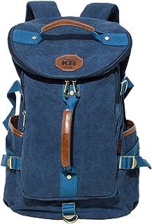 KAUKKO Multipurpose Canvas Backpack Daypack Hiking Travel Shoulder Bag Backpacks