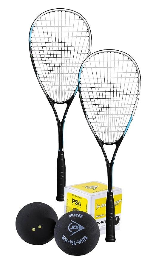Dunlop - Juego de raquetas de squash (2, pelota de squash Modelo ...