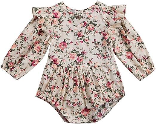 USA Baby Girl Infant Flower Romper Bodysuit Jumpsuit+Socks Outfit Clothes SetS