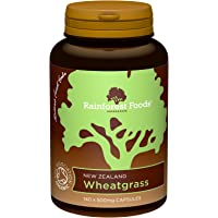 Rainforest Foods Organic New Zealand Wheatgrass Capsules 500mg Pack of 140
