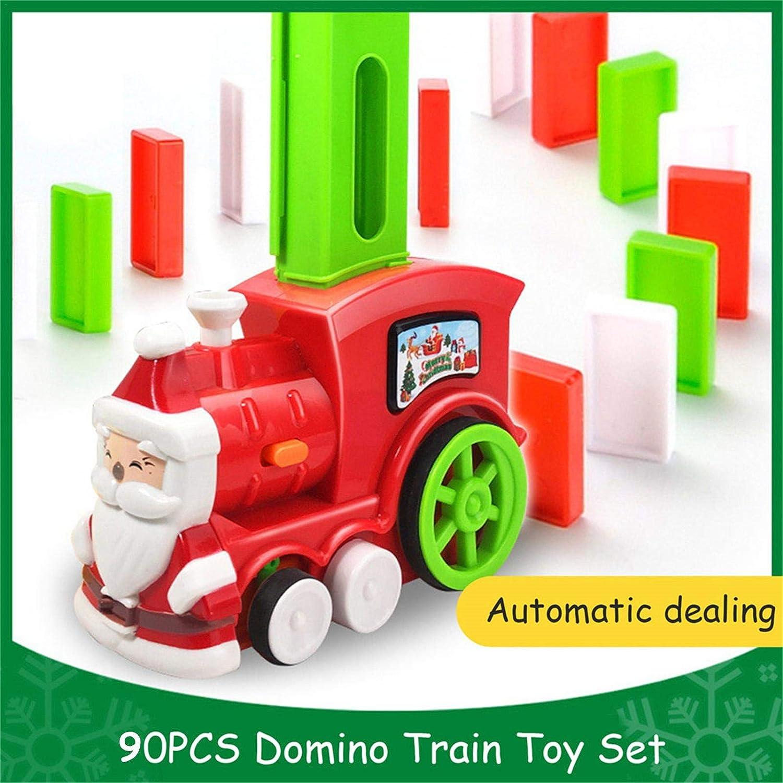80PCS Train /Électrique Domino Intelligence Pour Enfants Train /Électrique Avec /Échecs /À Pendule Automatique Acousto-optique Ensemble De Train De Jeu De Train /Électrique De Rallye De Dominos