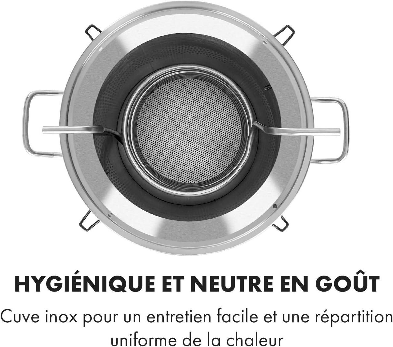 Volume 25L INOX 304 /Écran LCD KLARSTEIN Maischfest Boiler Bouchon en Acrylique Inclus Argent Modifie Pas Le go/ût Poign/ée Cuve de Fermentation Robinet de vidange