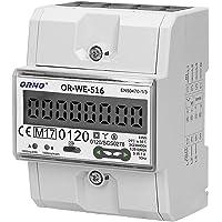 Orno OR-WE-516 Elmätare topphatt skena 3-fas display av strömförbrukning med MID-certifikat, Modbus…