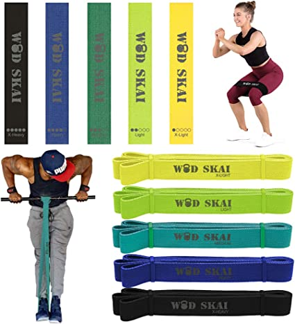 5 PCs Resistance Bands Assisted Pull Up Exercise Loop Set Stretching Gym