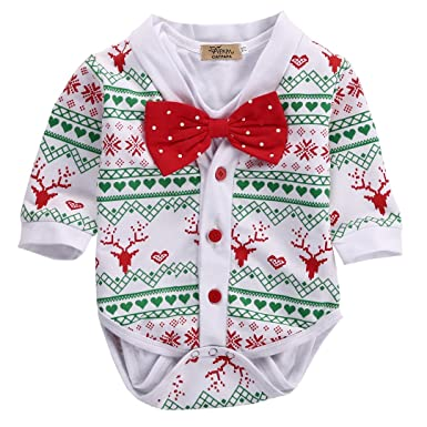 Amazon.com: Newborn Baby Girl Boy Snowflake Coat+Romper Playsuit ...