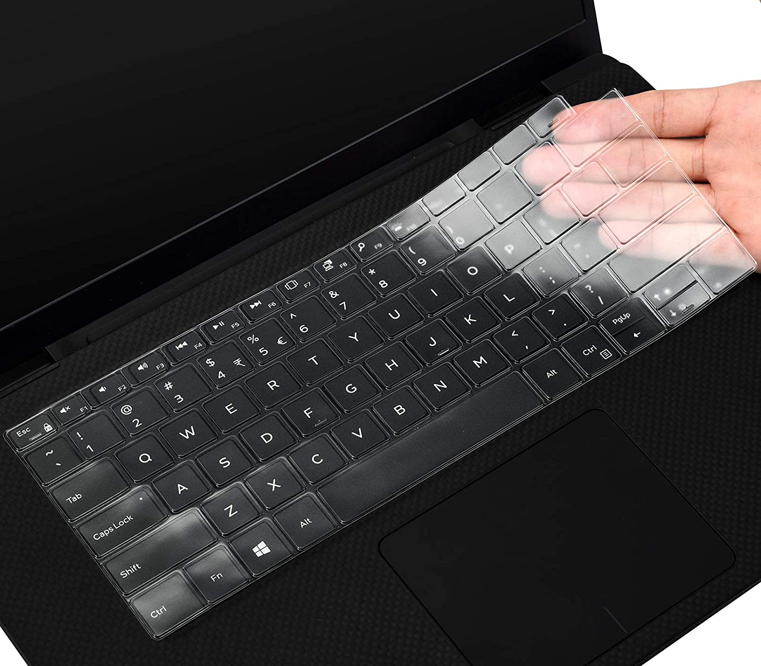 CaseBuy Premium Keyboard Cover Skin for Dell New XPS 13 9300 9310 13.4-inch Touchscreen Only, Ultra Thin TPU Protector(NOT Fit XPS 13 9380 9370 9350 )