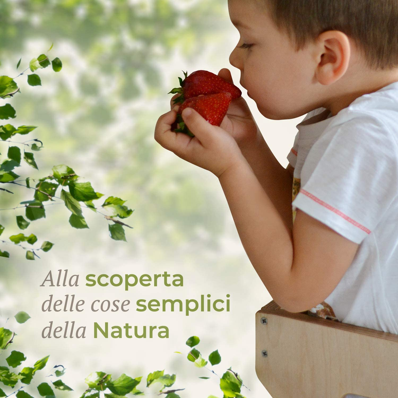 Bianconiglio Kids ® EVO 2019 Montessori tour d'observation finition transparente bois naturel visible, réglable en hauteur Kid Safe All Natural