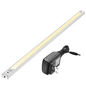 24 Inch Under Cabinet Lighting 3000K - Under Counter Lighting and Under Cabinet LED Lighting by Phonar with 12V Adapter and Sensor Switch