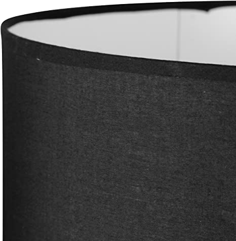 Lum & Co Set di paralumi cilindrici, Nero, 25 x 17 x 25 cm