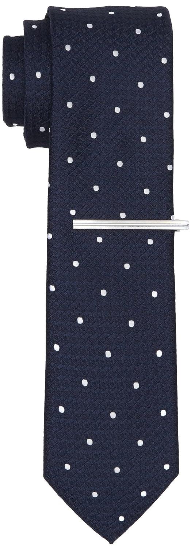Mens Bleu Marine / Cravate Tache Rose Avec Cravate Clip, Bleu (marine), Taille Burton Vêtements Pour Hommes Londres