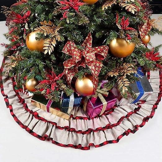 LASISZ Falda de árbol de Navidad 48 Pulgadas Falda de árbol con ...
