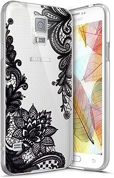 Funda Galaxy S5 ,Funda Silicona Gel Carcasa Ultra Delgado Flexible Tpu Goma Silicona Protector Flexible Cover Case Estuche Protective Caso para Samsung Galaxy S5 ,Patrón de Encaje: Amazon.es: Bricolaje y herramientas