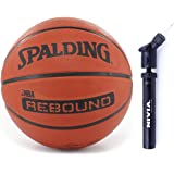 Spalding Basketball Rebound 5 Combo ( Spalding Nba Rebound Brick, Size 5 + Niva Ball Air Pump)