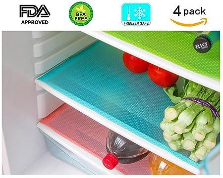 Alfombrillas de refrigerador, 4 piezas de goma EVA para ...