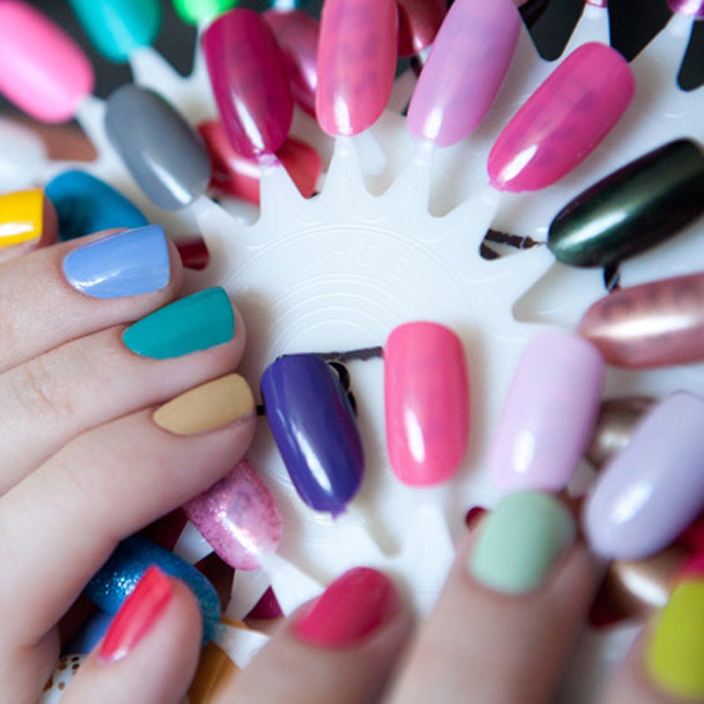TRIXES Rueda de Arte en Uñas con18 Puntas Postizas y Práctica para Belleza de Manicura en Salón: Amazon.es: Belleza