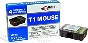 T1 Mouse Disposable Mouse Bait Stations-1 Box (4 stations)