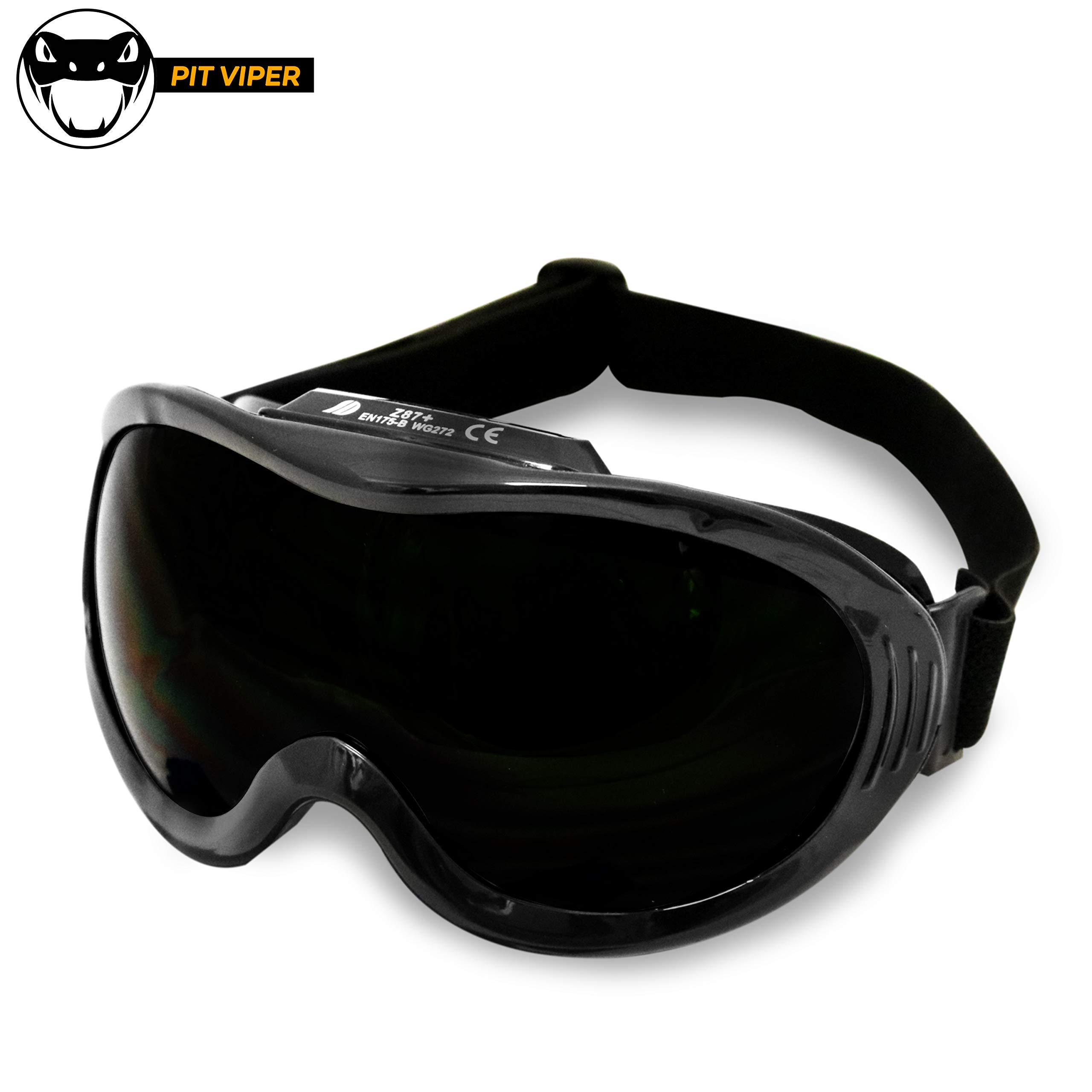 KwikSafety (Charlotte, NC) PIT VIPER ANSI Industrial (ANTI-FOG, ANTI-SCRATCH, Snug FIT) Welding Goggles Shade 5 | Ventilation Infrared Welding Torch Brazing Flame Cutting Gas Oxy-Acetylene Black by KwikSafety