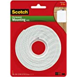Scotch Brand 112L Permanent Mounting Tape, 1 Inch x 125 Inches, White-Limited Edition
