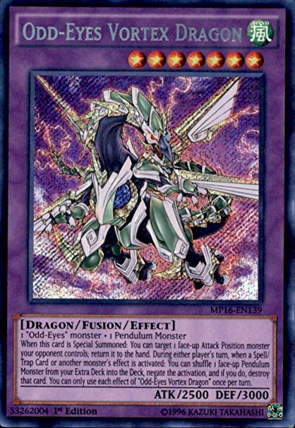 Yu-Gi-Oh! - Odd-Eyes Vortex Dragon (MP16-EN139) - Mega Pack ...