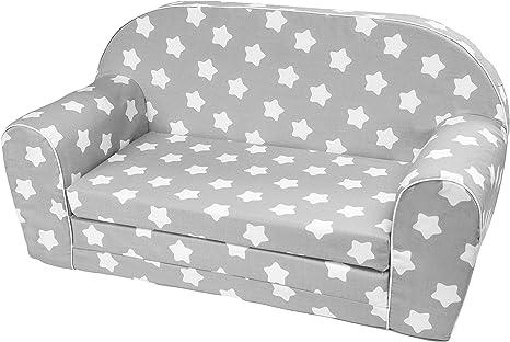 Toddlers Foldable 2-in-1 Sofa Kids Sofa Bed MoMika Childrens Sofa