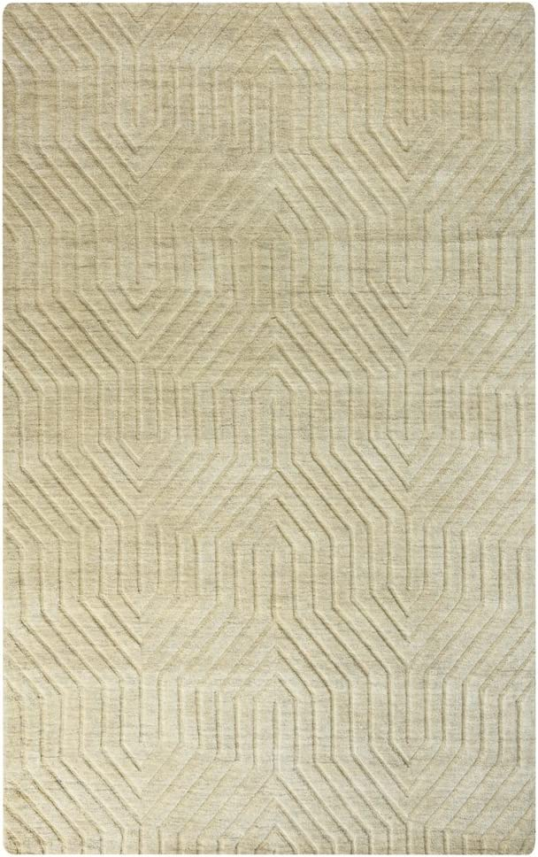 Rizzy Home Technique Collection Wool Area Rug, 3' x 5', Tan Solid