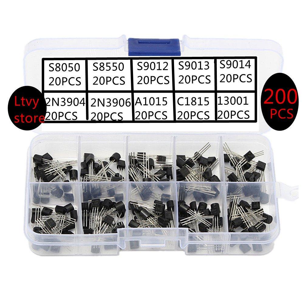 BC337 BC327 2N2222 2N2907 2N3904 2N3906 S8050 S8550 A1015 C1815 Transistor 10Pc