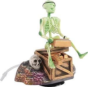Saim Pirate Skeletons & Gold Treasures Live Action Aquarium Ornaments