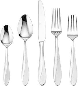 Mikasa Rylee Stainless Steel Flatware, 20-Piece Set, Service for 4