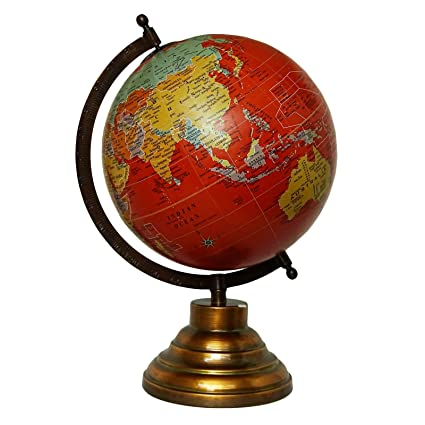 Globes For Sale >> Amazon Com Craftstribe Tabletop 13 Desktop Rotating Globe