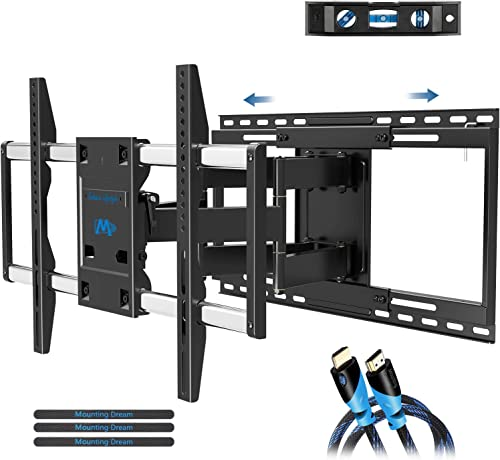 Mounting Dream TV Mount Full Motion Sliding Design for TV Centering, Articulating TV Wall Mounts TV Bracket for 42, 70in TVs, Easy Install on 16in, 18in, 24in Studs, 19in Extension, MD2198 Renewed