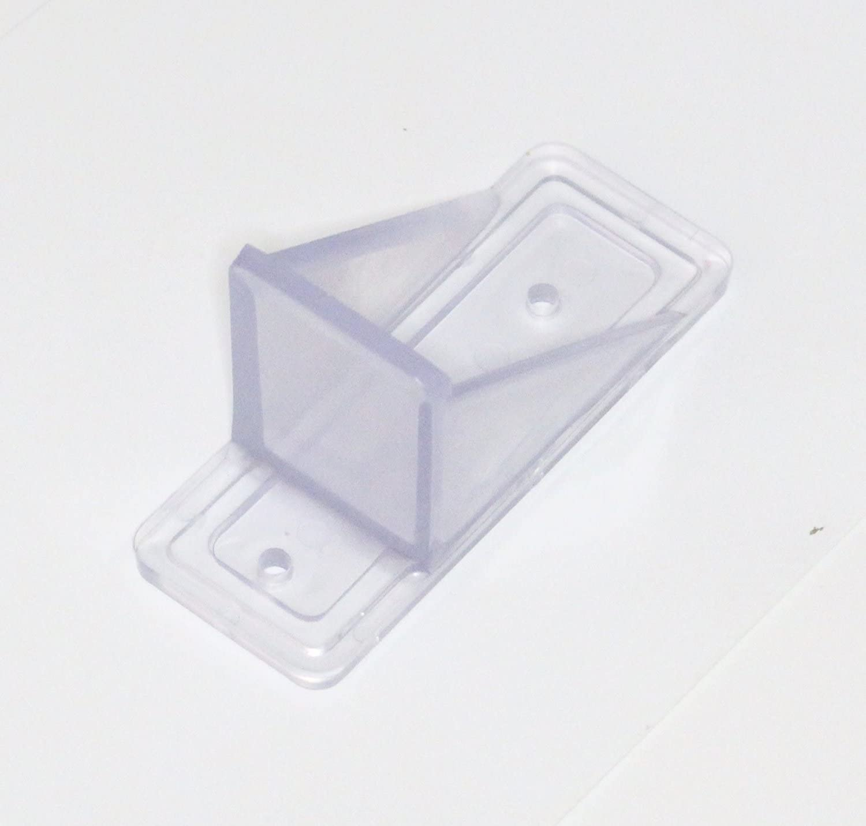 100, Clear JSP Manufacturing V2-Mini Roof Guard Snow Guard Prevent Sliding Ice Snow Stop Buildup Plastic Multipack-Multicolor