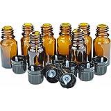10 Ml Amber Glass Bottle W/euro Dropper. Black Cap. 24 Pack …