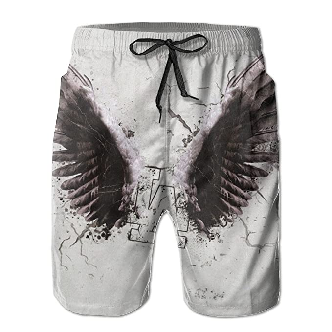 780164b967 A Pair Of Wings Painting Trunks Swim Board Shorts Clothing Mens