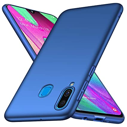 Galaxy A40 Case, Almiao [Ultra-Thin] Minimalist Slim Protective Phone Case Back Cover for Samsung Galaxy A40 (Smooth Blue)