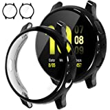 [2Pack] Tensea Compatible with Samsung Galaxy Watch Active 2 Screen Protector Case 44mm, Bumper Full Around Cover for Samsung