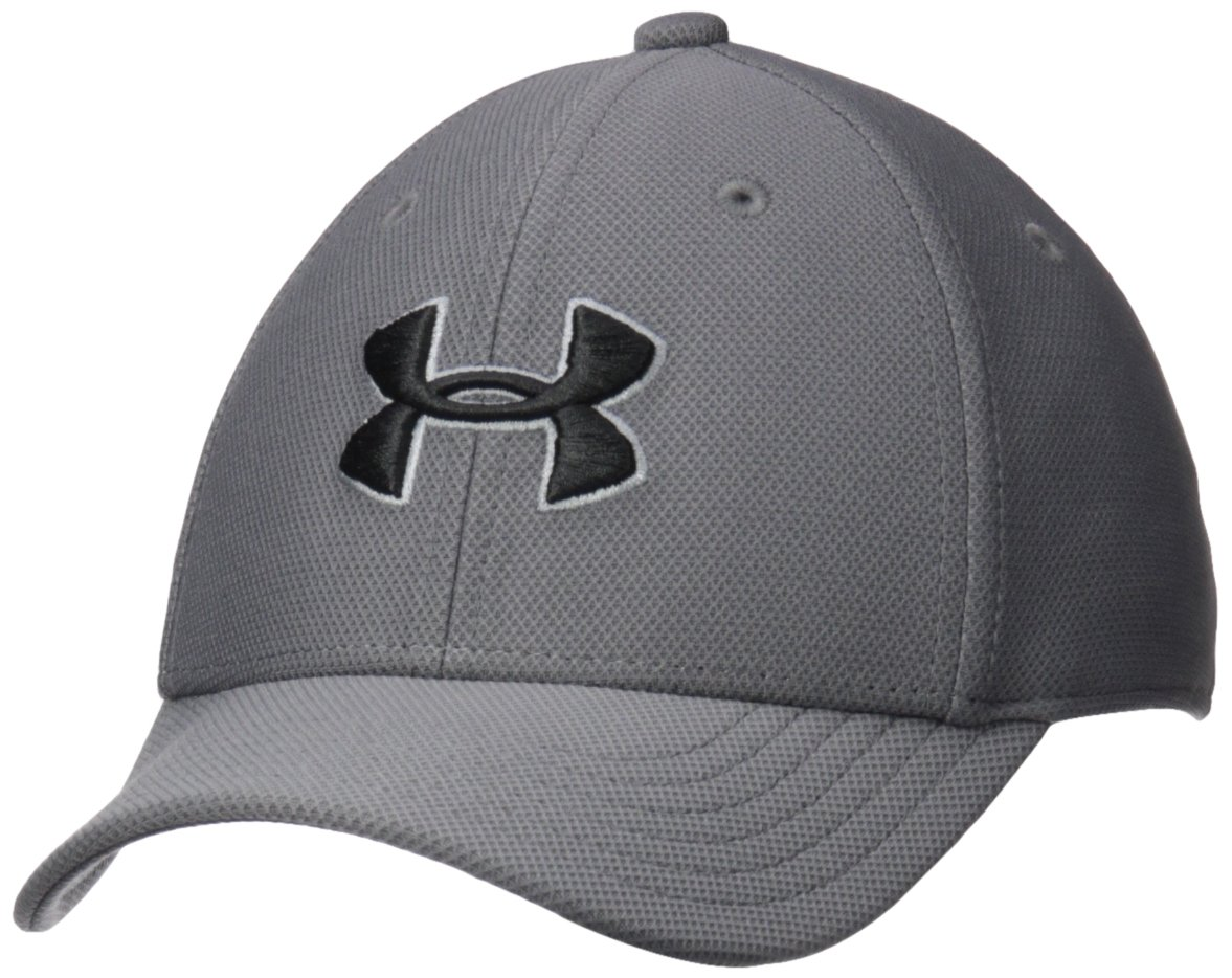 Under Armour Boys' Blitzing 3.0 Cap, Graphite (040)/Black, Youth X-Small/Small