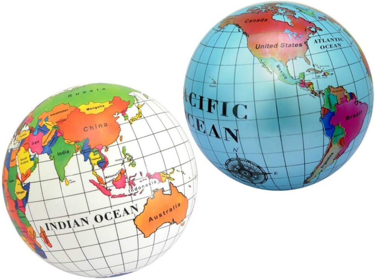 Pelota con mapa del mundo de 23 cm