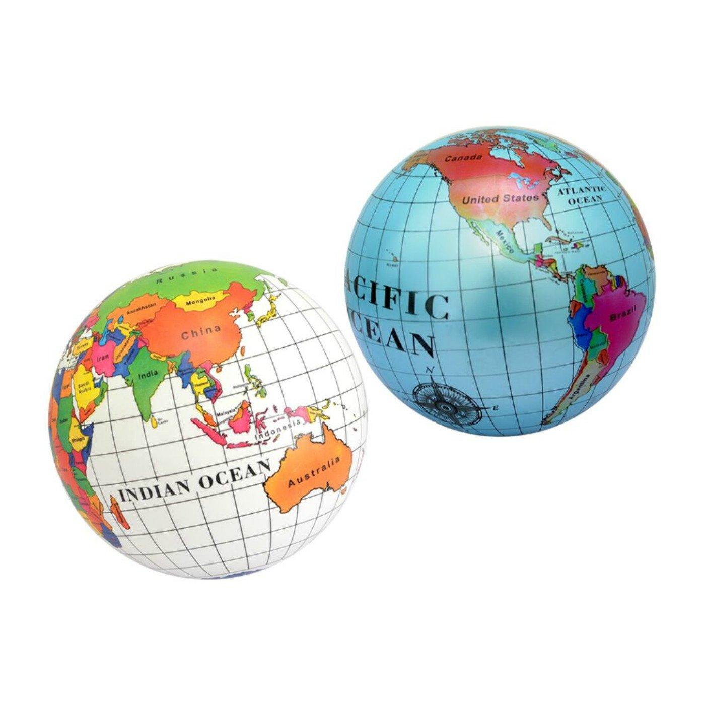 Pelota con mapa del mundo de 23 cm: Amazon.es: Juguetes y juegos