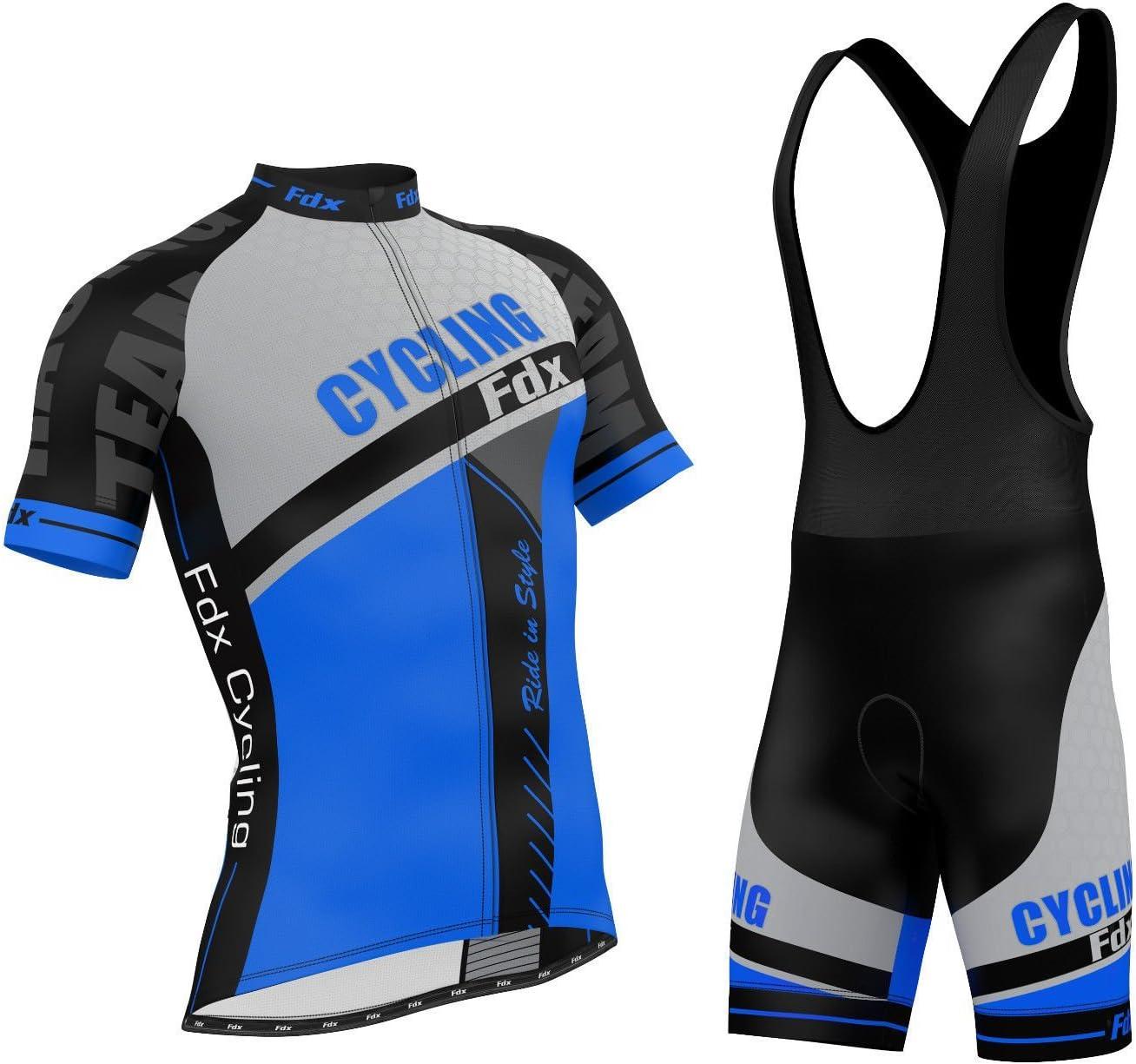 FDX/ /Cosciali per ciclismo con imbottitura in gel antibatterico