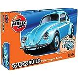 エアフィックス クイックビルドシリーズ VW ビートル 塗装済みブロック式組み立てキット QB6015 プラモデル