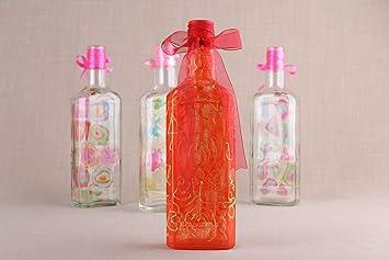 Amazon.com: Rojo Decorativo Botella: Home & Kitchen