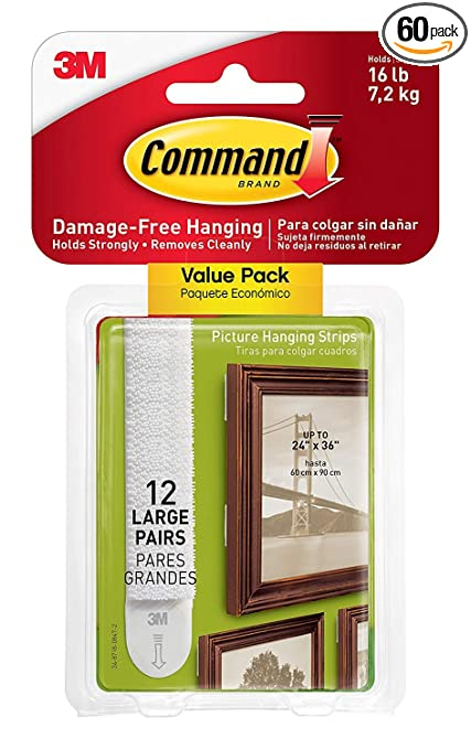 5a78d876a1a Amazon.com  Command Large Picture and Frame Hanging Strips