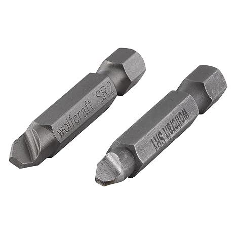 Wolfcraft 2982000 2982000-2 Destornilladores para aflojar Tornillos con roscado defectuoso 1 / T 10 2,5 + 3 SR 2 (PH 2 / PZ 2 / T 15 + 20 / hexágono ...