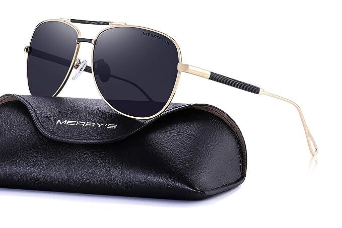 5c86e27a731 MERRY S Sunglasses for Men Polarized Metal Frame Driving Sun Glasses UV 400  Lens Protection 8404 (