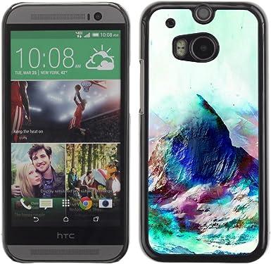 Smartphone Duro PC Carcasa para HTC Uno M8/funda TECELL tienda/geometría PSICODELICO montaña: Amazon.es: Electrónica