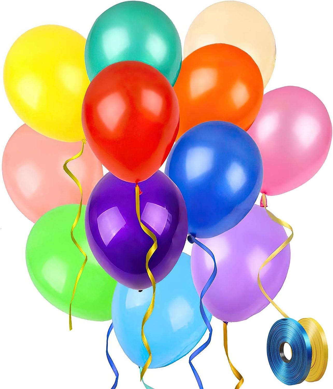 Balloons for Party Rainbow Birthday Balloons 12 inch 100 pcs