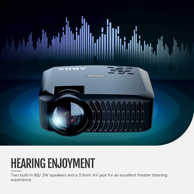 Proyector, 2019 ABOX A2 Native 720P Proyector de video portátil ...