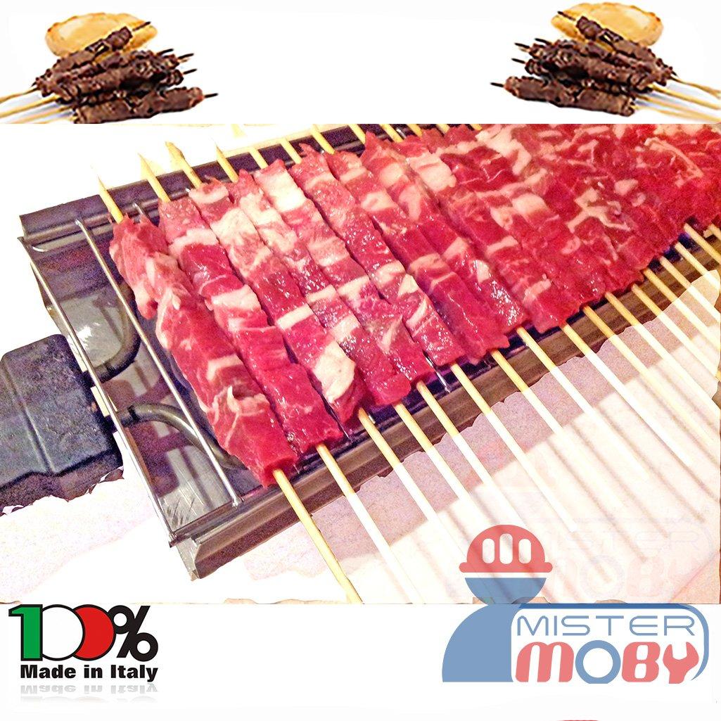 Mistermoby Fornacella Elettrica 30 Spiedini Arrosticini Carne Pane Rosticcera No Fumo Inox